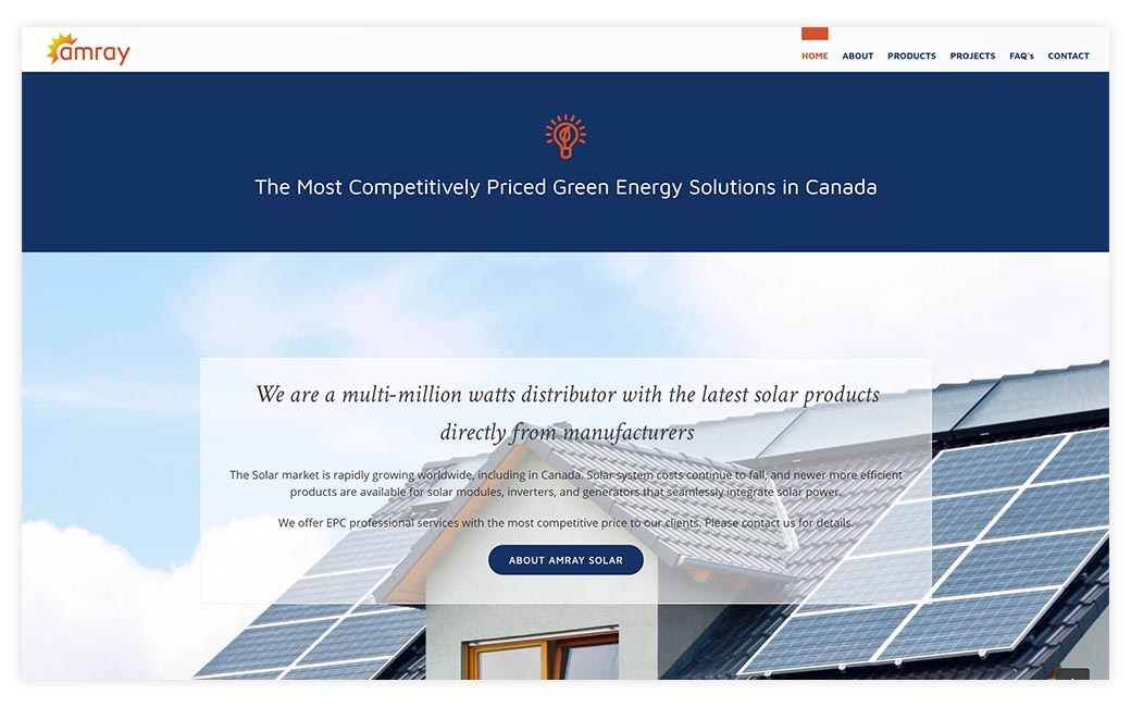 Amray Solar » Big Picture Websites